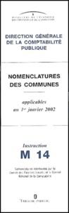 Nomenclatures des communes Instruction M 14. Applicables au 1er janvier 2002.pdf