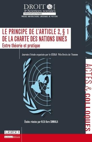 Di Gore Simmala - Le principe de l'article 2, paragraphe 1 de la charte des Nations Unies - Entre théorie et pratique.