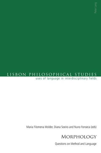 Diana Soeiro et Maria Filomena Molder - Morphology - Questions on Method and Language.