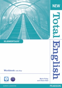 Diane Hall - New Total English Elementary Workbook with Key and Audio CD Pack.