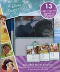DiCicco Studios et Casey Sanborn - Disney Princesses - Avec 1 feutre, 13 cartes d'activités géantes effaçables.