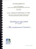 Didactique des mathématiques - Géométrie au cycle central 5e et 4e - Un enchaînement d'activités.