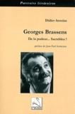 Didier Antoine - Georges Brassens : de la pudeur... Sacrebleu !.