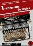 Didier Bazy - Traitements de textes.