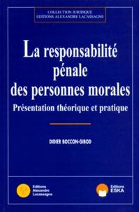 La responsabilité pénale des personnes morales - Présentation théorique et pratique.pdf