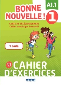 Didier - Carte de téléchargement Bonne nouvelle ! Niveau 1 - Cahier interactif élève.