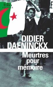 Didier Daeninckx - Meurtres pour mémoire - Une enquête de l'inspecteur Cadin.