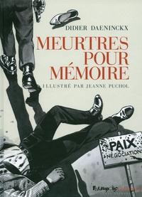 Didier Daeninckx - Meurtres pour mémoire.