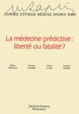 Didier Dreyfuss et François Lemaire - La medecine prédictive : liberté ou fatalité ? - Journées d'éthique médicale Maurice Rapin.