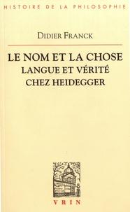 Galabria.be Le nom et la chose - Langue et vérité chez Heidegger Image