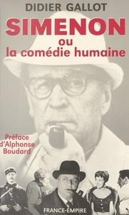 Didier Gallot et Alphonse Boudard - Simenon.