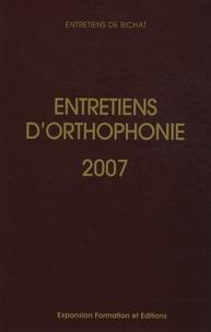 Didier-Jacques Duché - Entretiens d'orthophonie 2007.
