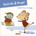 Didier Jean et  Zad - Gaufrette & Nougat jouent avec la neige.
