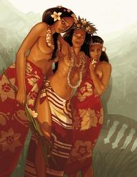 Didier Quella-Guyot et Sébastien Morice - Papeete 1914 Tome 1 et 2 : Rouge Tahiti ; Bleu horizon - 2 volumes.