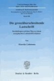 Die grenzüberschreitende Lastschrift - Rechtsfragen auf dem Weg zu einem europäischen Lastschriftverfahren.