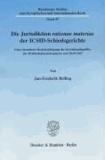 Die Jurisdiktion rationae materiae der ICSID-Schiedsgerichte - Unter besonderer Berücksichtigung des Investitionsbegriffes des Weltbankübereinkommens vom 18.03.1965.