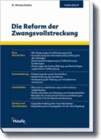 Die Reform der Zwangsvollstreckung - aktuell mit Arbeitshilfen online.