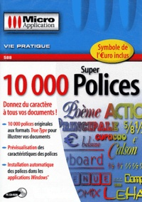 Editions Micro Application - 10 000 super polices - CD-ROM.