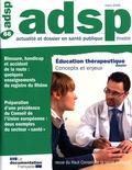 HCSP - ADSP N° 66, Mars 2009 : Education thérapeutique : concepts et enjeux.
