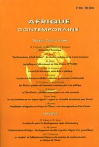 Denis Cogneau et Sandrine Mesplé-Somps - Afrique contemporaine N° 206 Eté 2003 : Dossier Côte d'Ivoire.