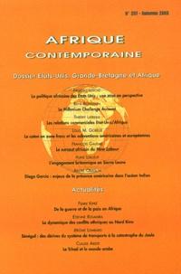 Frédéric Leriche et René Boissenin - Afrique contemporaine N° 207, Automne 2003 : Etats-Unis, Grande-Bretagne et Afrique.