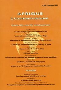 Pierre-André Wiltzer et Jean-Marc Châtaigner - Afrique contemporaine N° 209 Printemps 200 : Paix, sécurité, développement.
