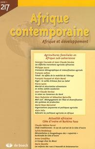 Georges Courade et Jean-Claude Devèze - Afrique contemporaine N° 217/2006-1 : Agricultures familiales en Afrique sub-saharienne.