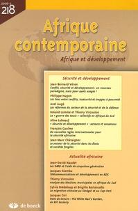 Jean-Bernard Véron et Philippe Hugon - Afrique contemporaine N° 218/2006-2 : Afrique et développement.