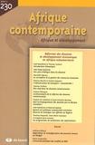 Jean-Bernard Véron - Afrique contemporaine N° 230/2009-2 : Réformes des douanes et développement économique en Afrique subsaharienne.