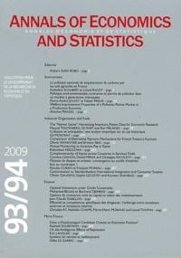 Robert Gary-Bobo - Annales d'économie et de statistique N° 93/94, Janvier-Ju : Annales d'économie et de statistique: n° 93-94.