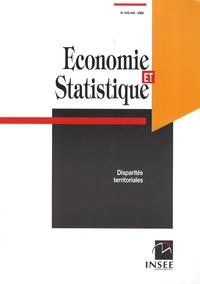 INSEE - Economie et statistique N° 415-416/2008 : Disparités territoriales.