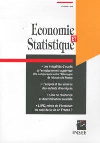 INSEE - Economie et statistique N° 433-434/2010 : .