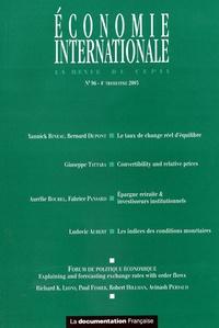 Yannick Bineau et Bernard Dupont - Economie internationale N° 96, 4e trimestre : .