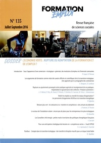 CEREQ - Formation Emploi N° 135 : L'Economie verte.