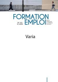 CEREQ - Formation Emploi N° 152 : Varia.