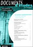 Francis Hamon et Céline Wiener - La justice constitutionnelle : Présentation générale, France, Etats-Unis - Edition 2001.