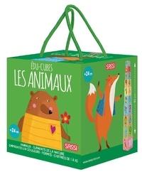 """Matteo Gaule - Les animaux - 10 édu-cubes + un mini """"Atlas"""" de 10 pages."""