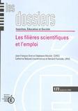 Catherine Béduwé et Bernard Fourcade - Les dossiers N° 177, Septembre 20 : Les filières scientifiques et l'emploi.