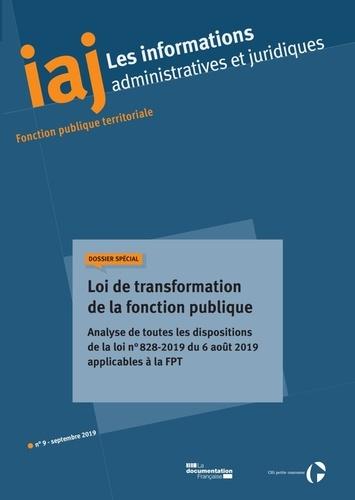 CIG petite couronne - Les informations administratives et juridiques N° 09/2019 : .