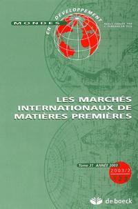 Serge Calabre - Mondes en développement N° 122/2003 : Les marchés internationaux de matières premières.
