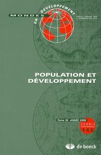 Serge Feld - Mondes en développement N° 142/2008/2 : Population et développement.