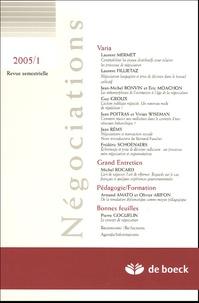 Laurent Mermet et Jean-Michel Bonvin - Négociations N° 1/2005 : .