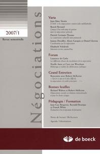 Jean-Marc Siroën et Benoît Bernard - Négociations N° 1/2007 : .