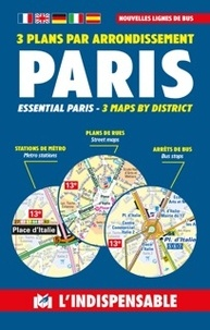 Massin - Paris transport - 3 plans par arrondissement.