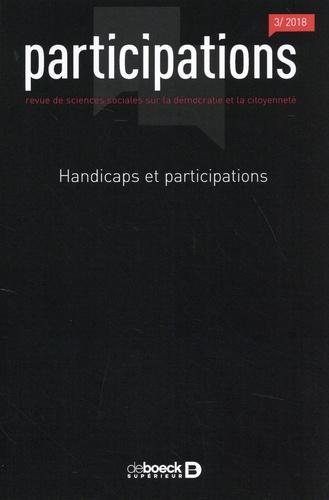 Participations N° 22, 2018/3 Handicaps et participations