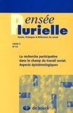 Ewa Marynowicz-Hetka et Anita Gulczynska - Pensée plurielle N° 19/2008/3 : La recherche participative dans le champ du travail social - Aspects épistémologiques.