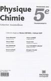 Carine Beauvais et Thierry Finot - Physique-Chimie 5e - Transparents avec fiches d'accompagnement, Programme 2006.