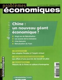 David Hale et Lyric-Hughes Hale - Problèmes économiques N° 2.846 mercredi 3 : Chine : un nouveau géant économique ?.