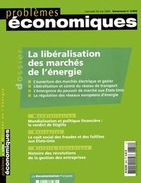 Claude Desama et Pierre-Marie Cussaguet - Problèmes économiques N° 2.852 - 26/05/04 : La libéralisation des marchés de l'énergie.