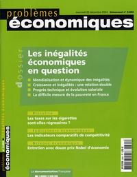 Pierre-Noël Giraud et Bruno Boidin - Problèmes économiques N° 2.865 mercredi 22 : Les inégalités économiques en question.
